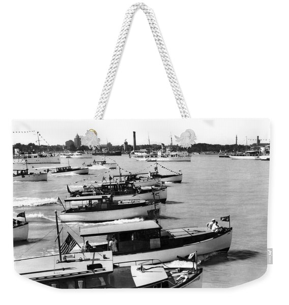 The Start Of The Liggett Trophy Race On The Detroit River In Mic Weekender Tote Bag