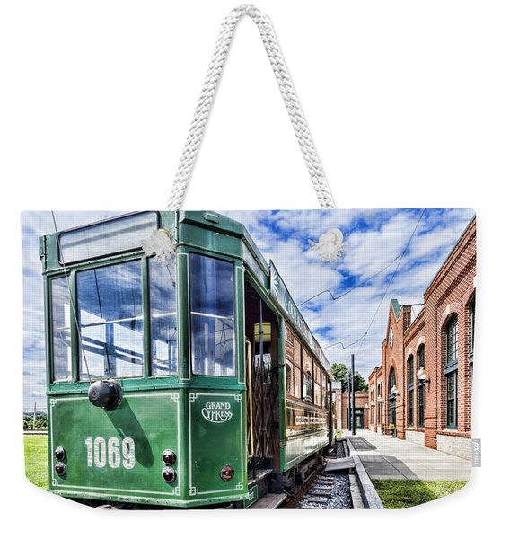 The Stib 1069 Streetcar At The National Capital Trolley Museum I Weekender Tote Bag