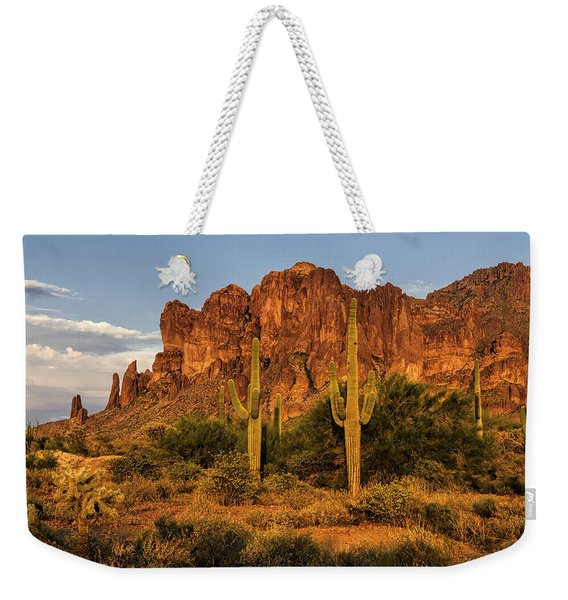 The Superstitions At Sunset  Weekender Tote Bag