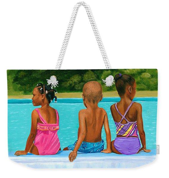 The Swim Lesson Weekender Tote Bag