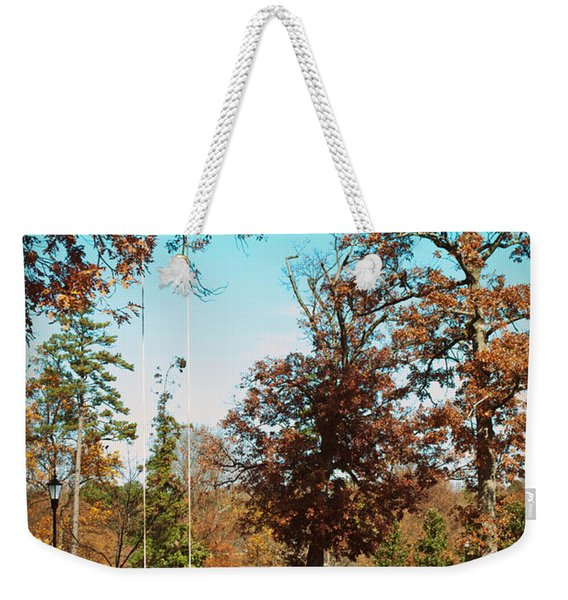 The Swing With Red Bicycle - Davidson College Weekender Tote Bag
