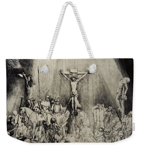 The Three Crosses Weekender Tote Bag