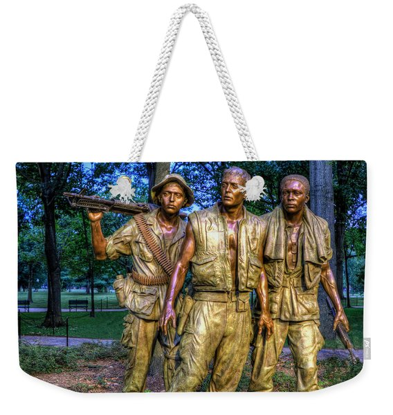 The Three Soldiers Facing The Wall Weekender Tote Bag