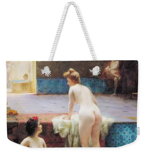 The Turkish Bath, 1896 Oil On Canvas Weekender Tote Bag
