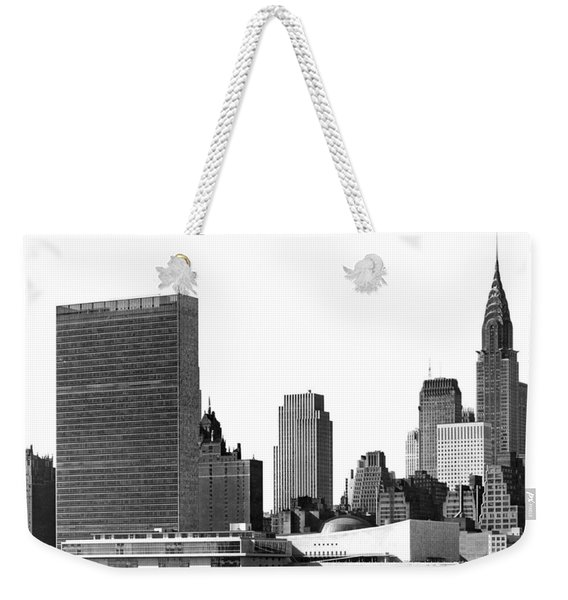 The Un And Chrysler Buildings Weekender Tote Bag