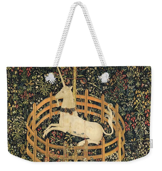 The Unicorn In Captivity Weekender Tote Bag