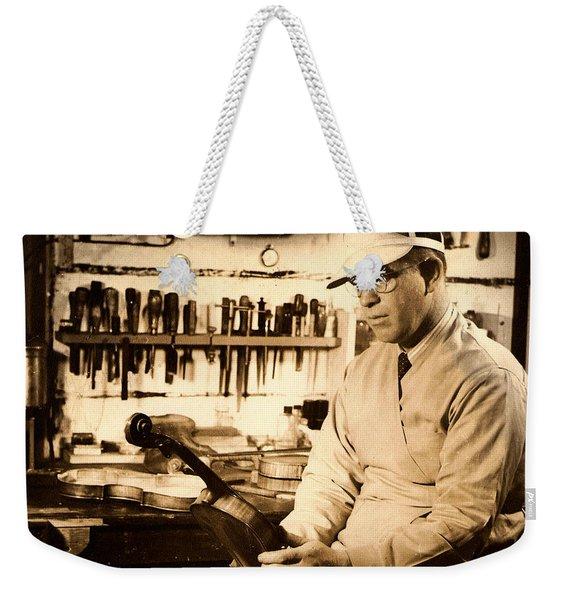 The Violin Maker Weekender Tote Bag