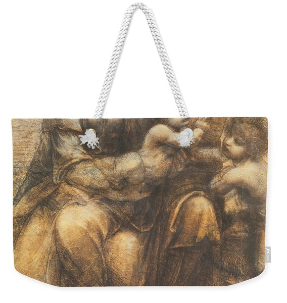 The Virgin And Child With Saint Anne And The Infant Saint John The Baptist Weekender Tote Bag
