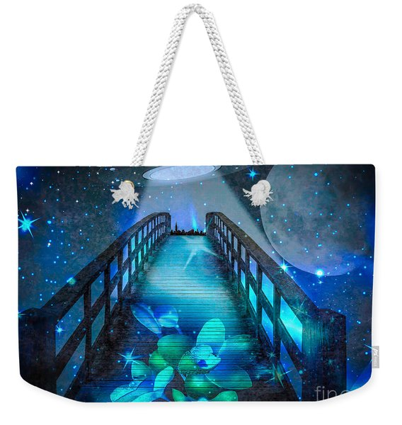 Weekender Tote Bag featuring the digital art The Visit by Eleni Mac Synodinos