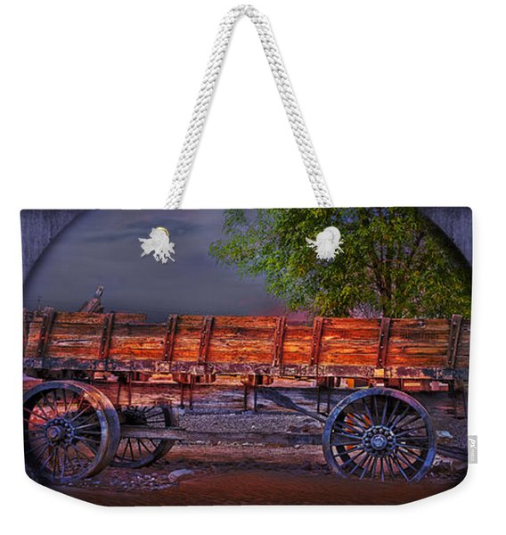 The Wagon Weekender Tote Bag