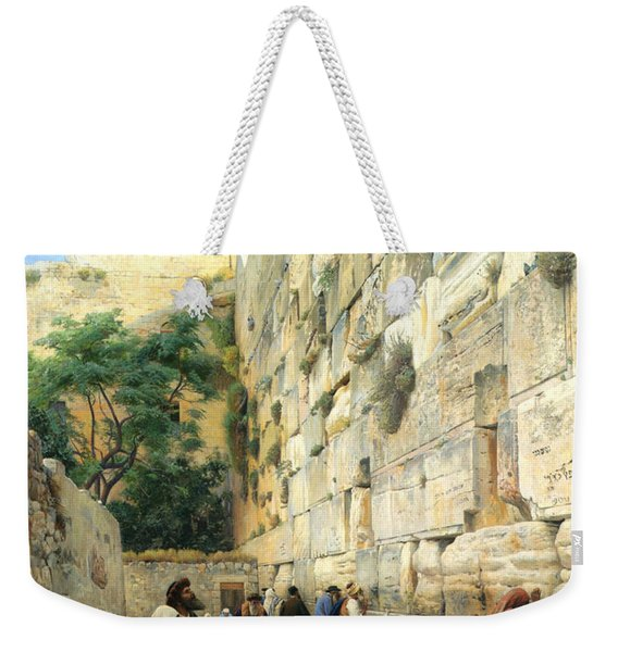 The Wailing Wall Jerusalem Weekender Tote Bag