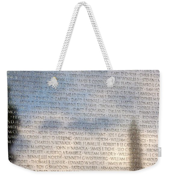 Weekender Tote Bag featuring the photograph The Wall by Jemmy Archer