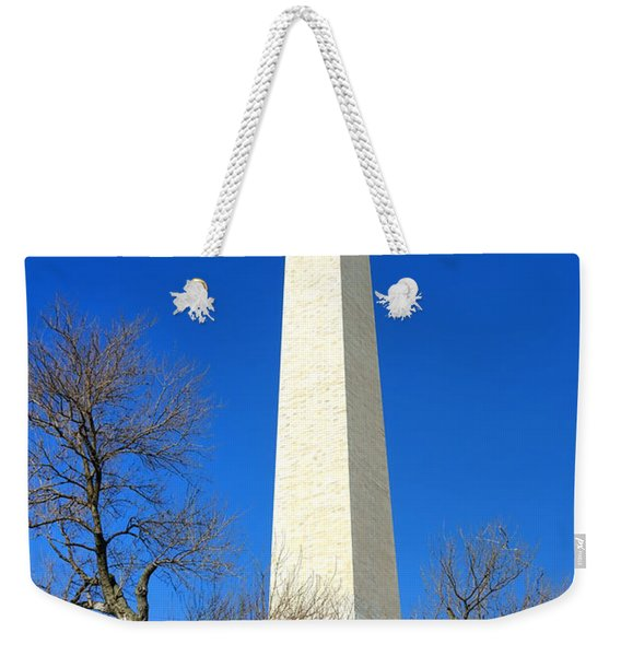 The Washington Monument And The Big Old Tree On The National Mall Weekender Tote Bag