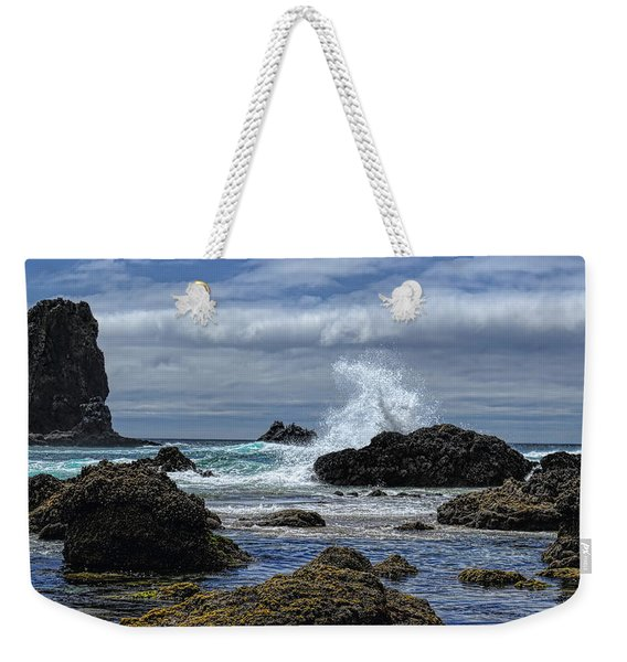 The Waves At Haystack Rock Weekender Tote Bag