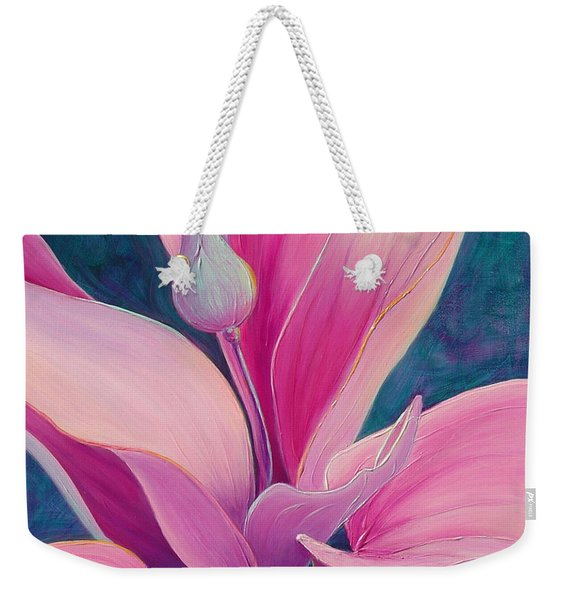Weekender Tote Bag featuring the painting The Way You Look Tonight by Sandi Whetzel