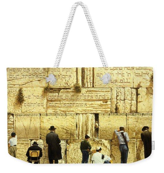 The Western Wall  Jerusalem Weekender Tote Bag