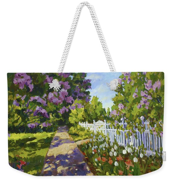 The White Fence Weekender Tote Bag