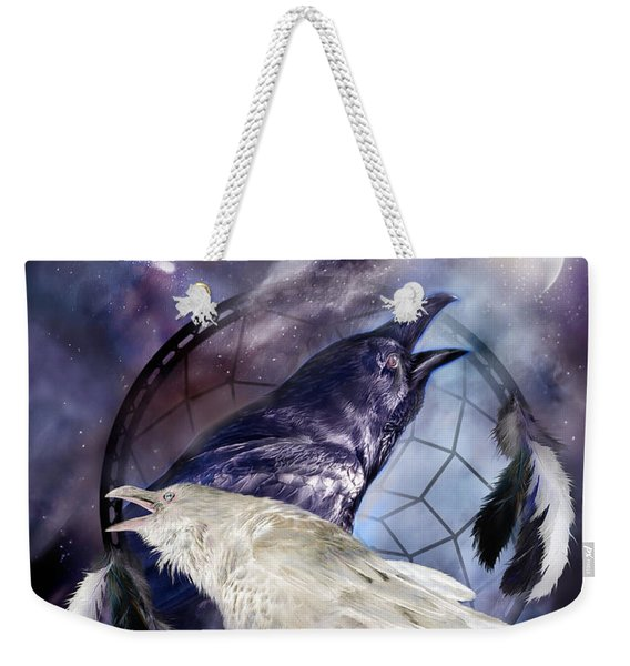The White Raven Weekender Tote Bag