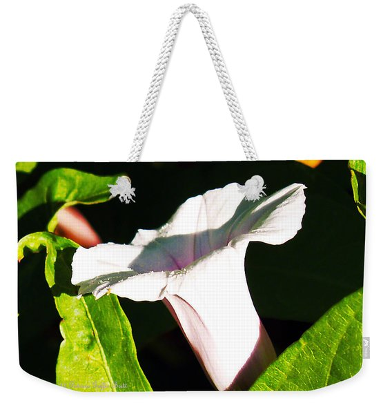 The White Trumpet Weekender Tote Bag