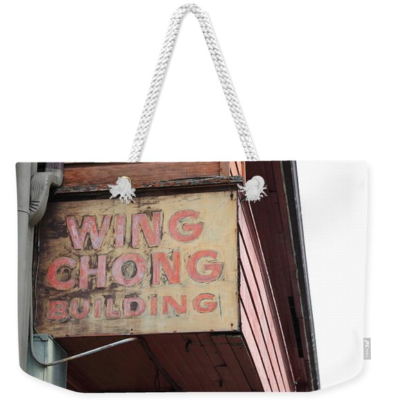 The Wing Chong Building On Monterey Cannery Row California 5d24786 Weekender Tote Bag