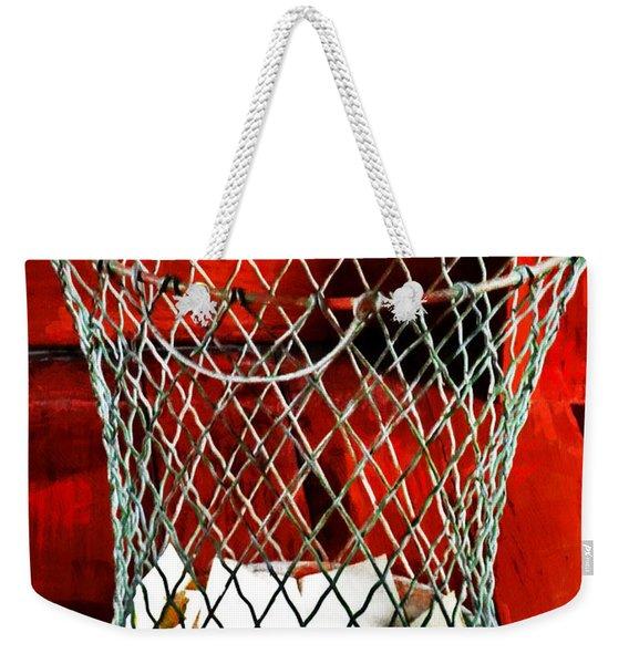 The Wire Waste Basket Weekender Tote Bag