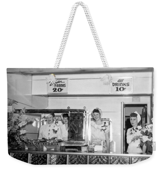 The Wonder Frank Hot Dog Stand Weekender Tote Bag