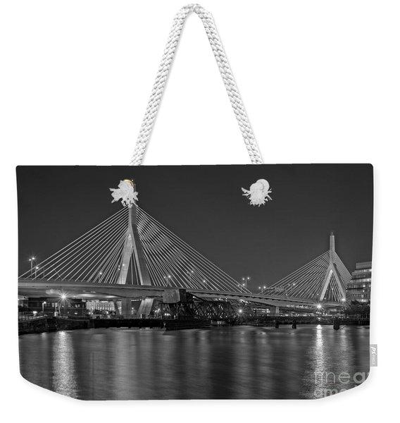 The Zakim Bridge Bw Weekender Tote Bag