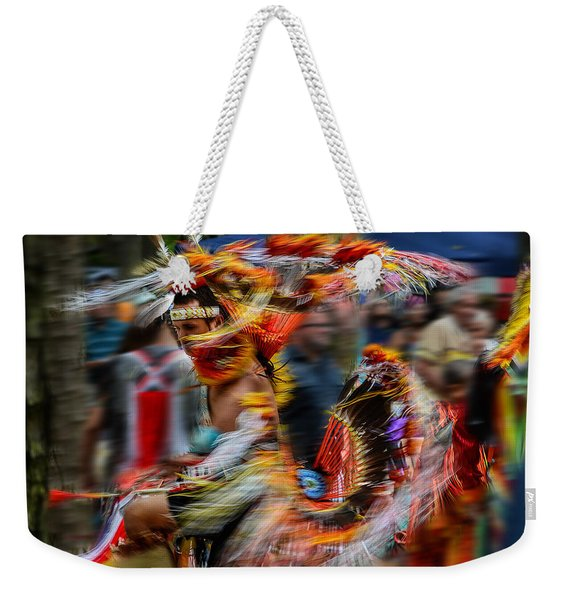 Their Spirit Is Among Us - Nanticoke Powwow Delaware Weekender Tote Bag