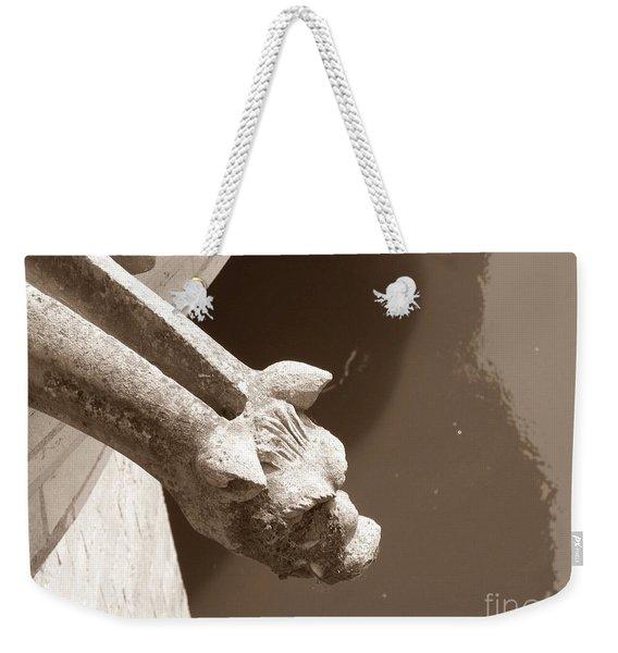 Thirsty Gargoyle - Sepia Weekender Tote Bag