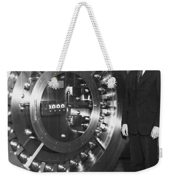 Thirty Ton Bank Vault Door Weekender Tote Bag