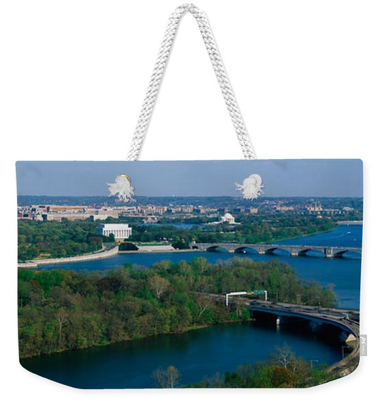 This Is An Aerial View Of Washington Weekender Tote Bag