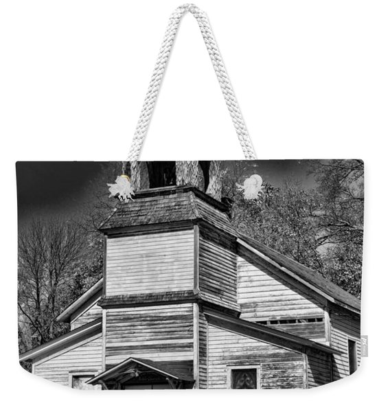 This Old Church In Black And White Weekender Tote Bag