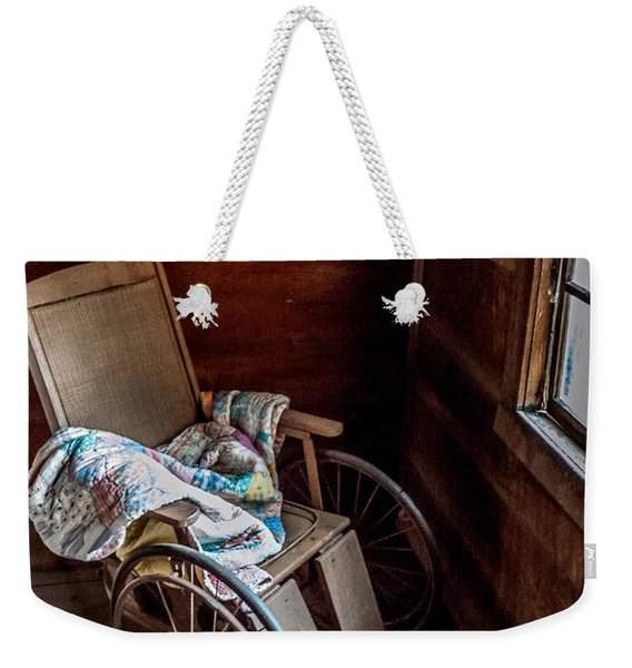 Wheelchair With A View Weekender Tote Bag