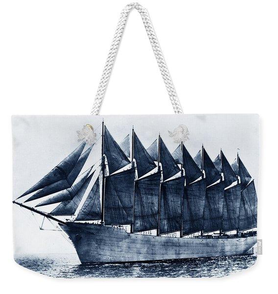 Thomas W. Lawson Seven-masted Schooner 1902 Weekender Tote Bag