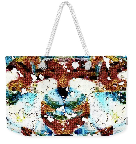 Those Darn Moths Mosaic Weekender Tote Bag