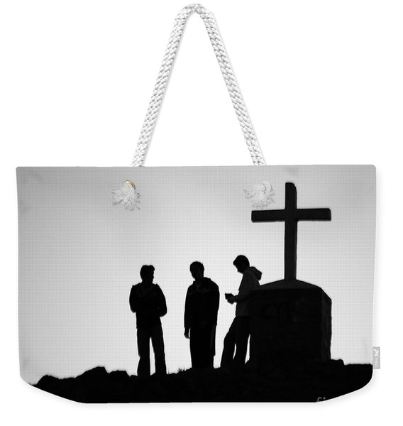 Three At The Cross Weekender Tote Bag