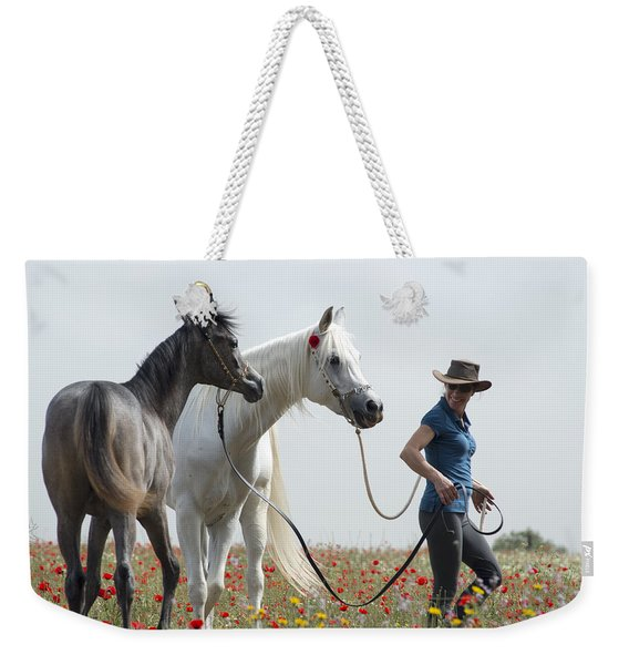 Three At The Poppies' Field... 1 Weekender Tote Bag