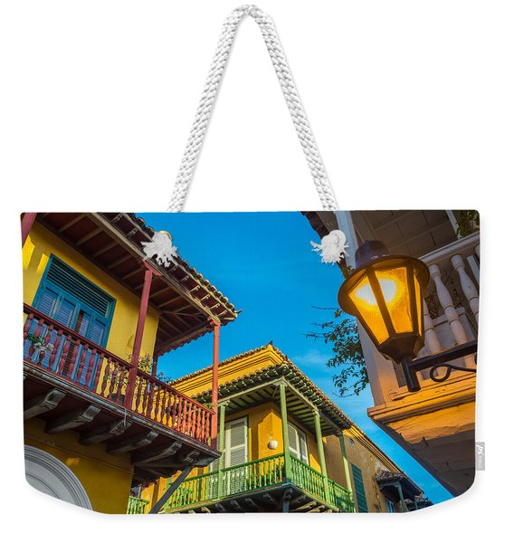 Three Balconies Weekender Tote Bag