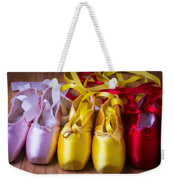 Three Ballet Shoes Weekender Tote Bag
