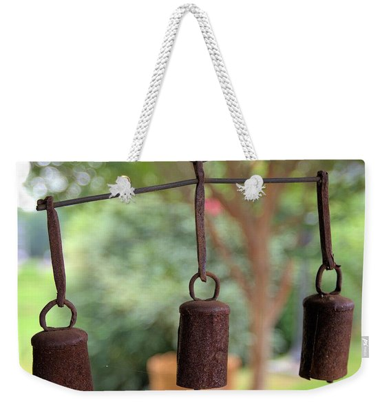 Three Bells - Square Weekender Tote Bag