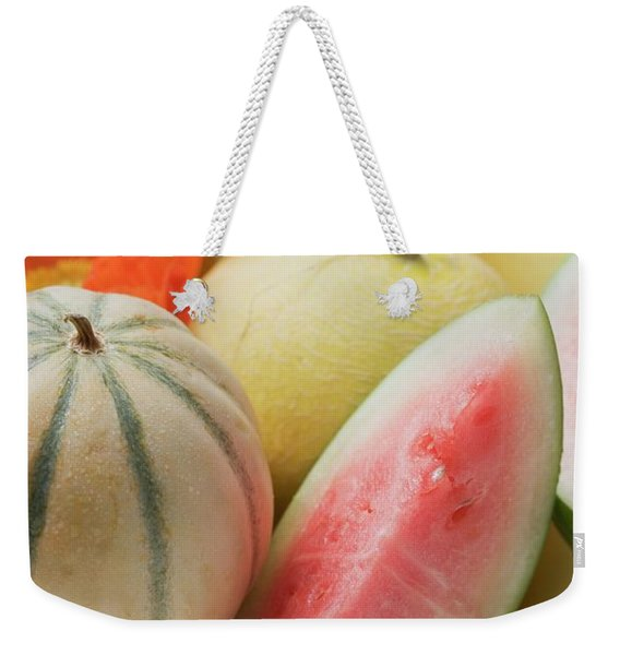 Three Different Melons In Bowl (detail) Weekender Tote Bag