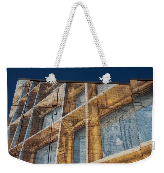 Three Dimensional Optical Illusions - Trompe L'oeil On A Brick Wall Weekender Tote Bag