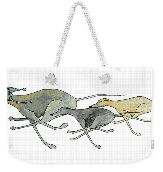 Three Dogs Illustration Weekender Tote Bag