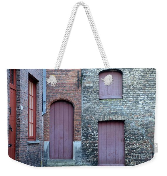 Three Doors And Two Windows Bruges, Belgium Weekender Tote Bag