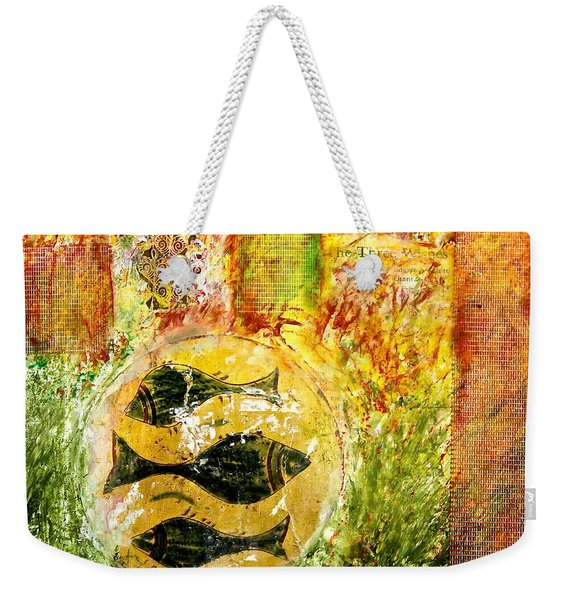 Three Fishes Weekender Tote Bag