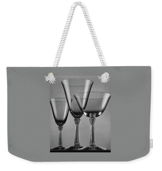 Three Glasses By Fostoria Weekender Tote Bag