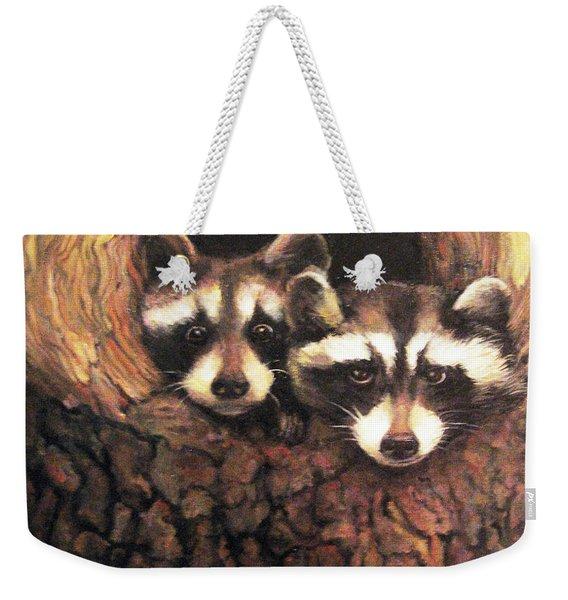 Three Is A Crowd Weekender Tote Bag