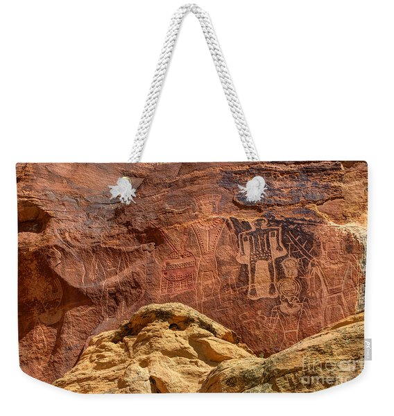 Three Kings Petroglyph - Mcconkie Ranch - Utah Weekender Tote Bag