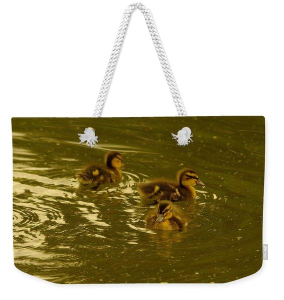 Three Little Duckies Weekender Tote Bag