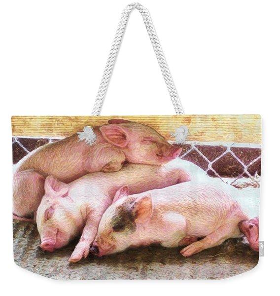 H Three Little Piglets - Horizontal Weekender Tote Bag